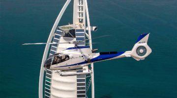 Luxus trimaran  Privater Helikopter Flug Dubai und Wildlife Safari im Range Rover ...