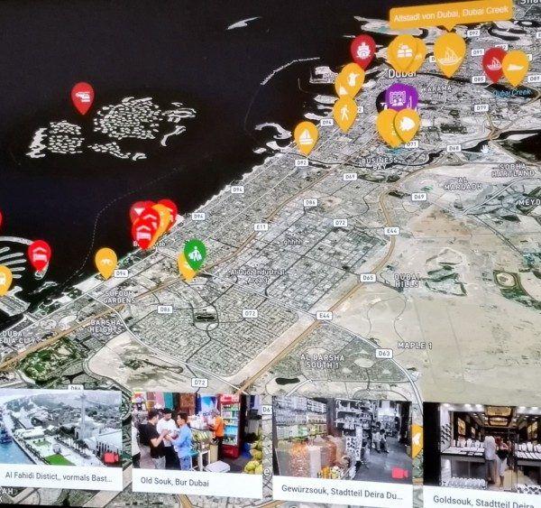 Landkarte von Dubai mit allen Sehenswürdigkeiten
